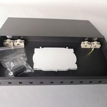 機架式24芯滿配光纖終端盒光纜熔接盒24口SC方頭含法蘭尾纖一套圖片