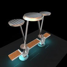 WYC1919型公园长廊休闲椅打造智慧景区座椅太阳能智能休闲座椅图片