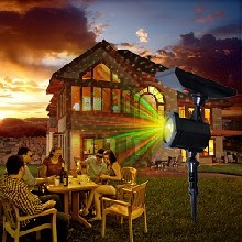 户外太阳能草坪灯激光灯庭院灯投影灯防水圣诞图案激光灯图片