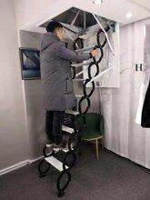 日照市可折叠的楼梯、阁楼隐形楼梯、室内折叠梯厂图片