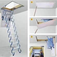 张家界阁楼伸缩楼梯质量图片