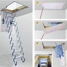 太白县电动阁楼伸缩楼梯买一送一图片