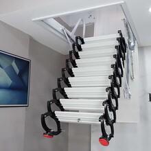 临沂市电动折叠隐形楼梯美宜步楼梯图片