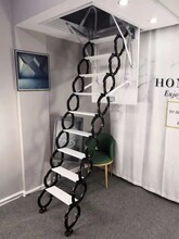 沧州壁挂伸缩楼梯提供安装服务图片