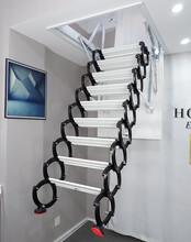 济宁市伸缩阁楼楼梯提供安装服务图片