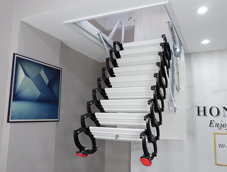 湖南常德安鄉小閣樓樓梯樓閣伸縮樓梯