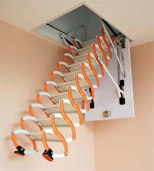 河北石家庄灵寿楼梯折叠复式伸缩楼梯生产厂家