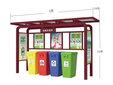 广告器材一鑫广告器材分类垃圾亭分类垃圾屋图片