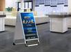 廣告牌展示牌立式落地式kt板鋁合金手提海報架宣傳展示架立牌