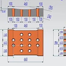 45453檐板园林房屋水泥混凝土预制件水泥盖板塑料模具盒图片