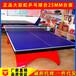 室內大彩虹乒乓球臺標準比賽乒乓球桌高密度纖維板乒乓球案子廠家