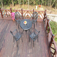 江门铸铁公园椅定做图片