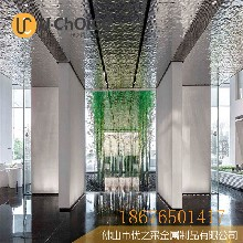 北京水波纹不锈钢板售楼部天花不锈钢水波纹设计图片