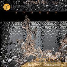 不锈钢压花板水波纹不锈钢吊顶金属镜面吊顶板厂家直销图片