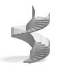 装饰建材玻璃钢结构旋转楼梯
