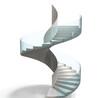 广州筑梦供应玻璃设计钢结构旋转楼梯