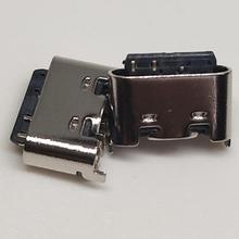 Type-C母座6Pin180度立式贴板高5.0舌片外露立式充电版铭创科技连接器母座