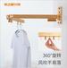 杭州隱形鋁合金曬衣架廠家奕之推拉式折疊晾衣架