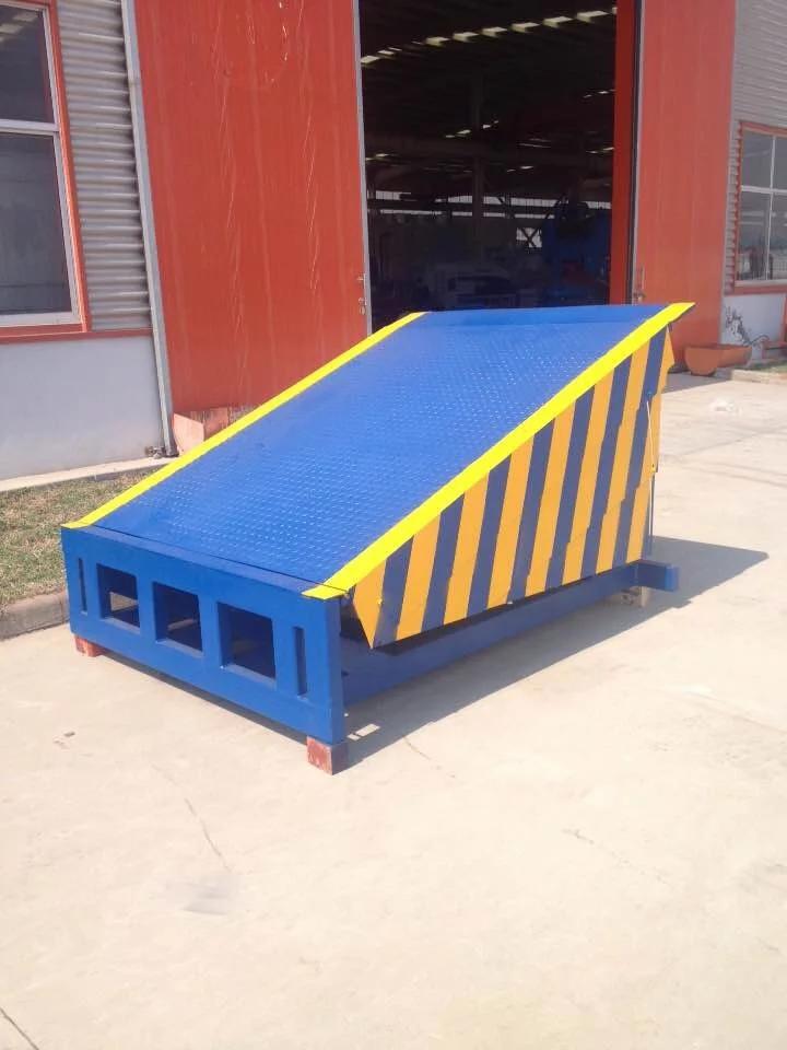 滑升门专用装卸平台登车桥厂家直销斜坡式液压升降平台