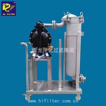 輝龍供應油墨涂料行業過濾DL-1P1S不銹鋼SS304SS316L袋式過濾器