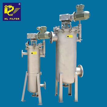 供应辉龙过滤粘性物料行业不锈钢气缸驱动过滤机内刮式自清洗过滤器