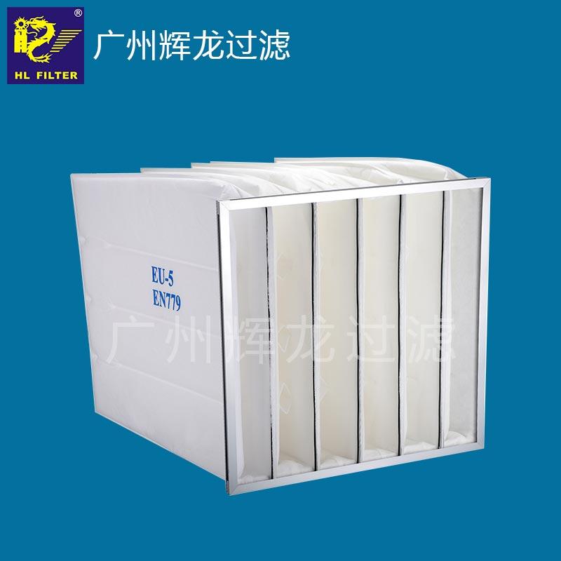 辉龙供应HL-G3G4M5M6F7F8F9铝合金外框净化空调系统预中效袋式空气过滤器
