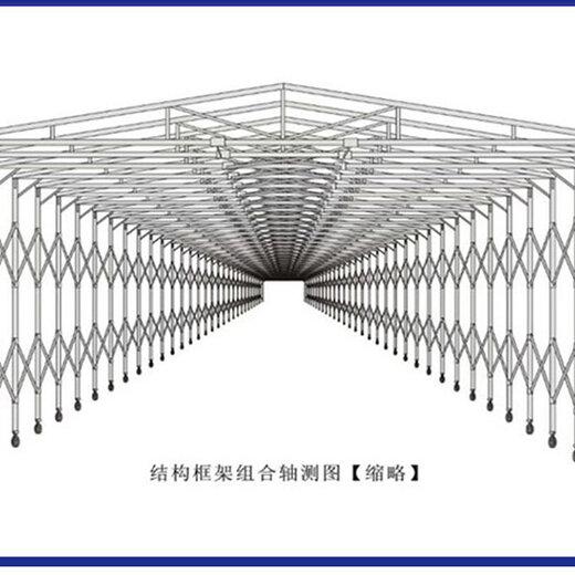 膜结构推拉棚图