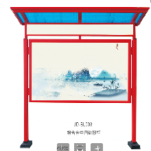 扬州双面铝合金宣传栏色泽光润,液压开启式宣传栏图片