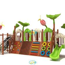 幼儿园玩具木质滑梯攀爬架平衡荡桥平衡木儿童感统训练