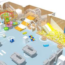 室内儿童游乐场厂家商场儿童乐园拓展设施淘气堡游乐设备定制亲子乐园淘气堡图片