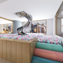 室内儿童游乐场设备亲子餐厅不锈钢滑梯大型游乐园淘气堡厂家室内百万海洋球池设施