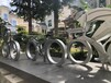 單車競速聯動裝置鐵藝造型美陳鐵藝景觀
