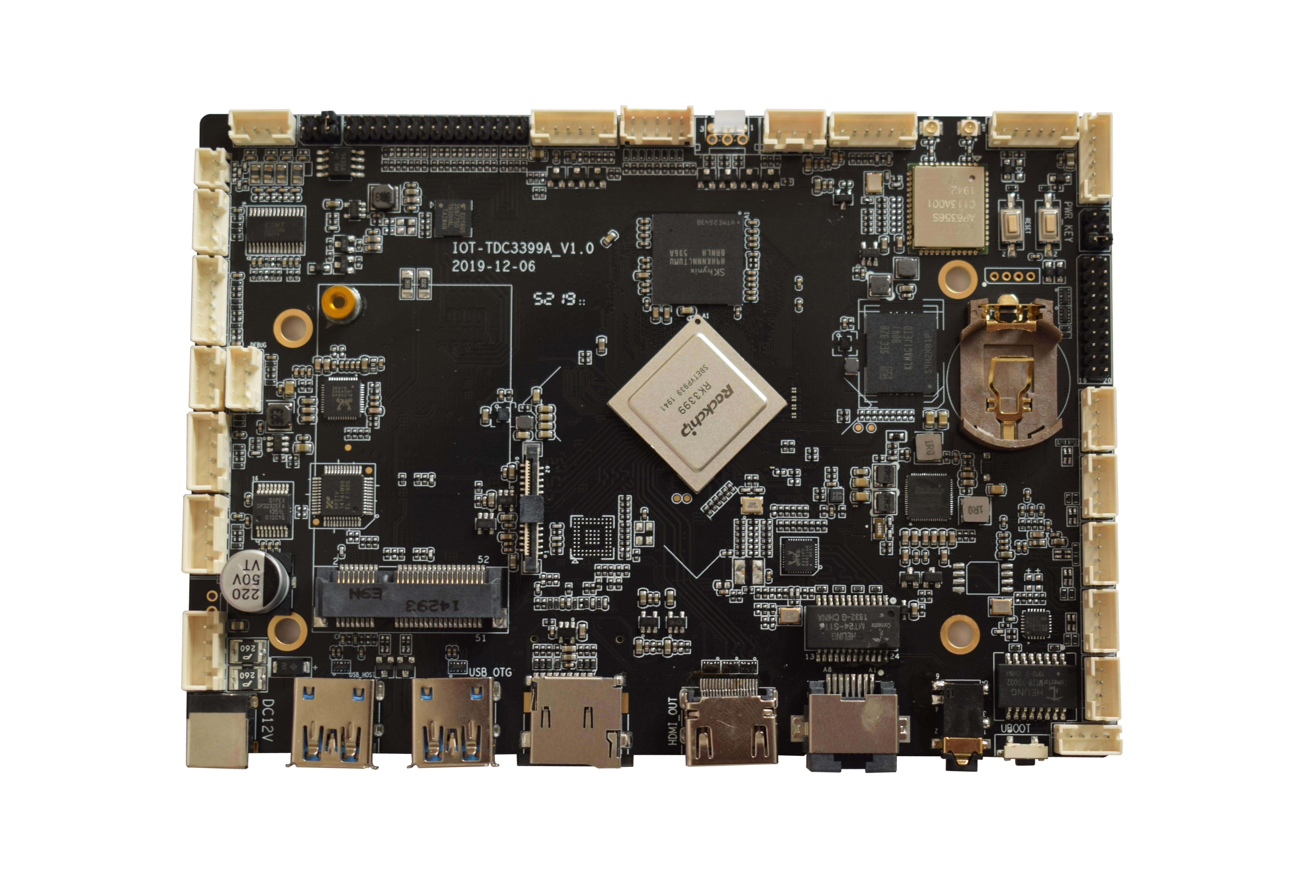 安卓行业智能主板嵌入式RK3399内存4G工业主板OEM定制