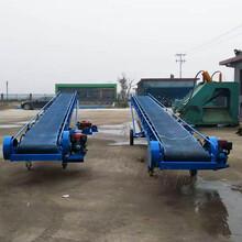 山东电动升降输送线食品级皮带输送机厂家玉米运输皮带输送机图片