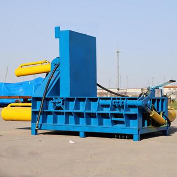 液壓式廢銅屑壓塊機自動翻包車床鐵屑壓塊機金屬打包機