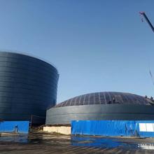 淮北水泥钢板库安装加工图片