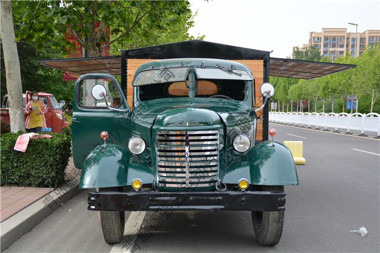 复古怀旧汽车老解放汽车美陈道具车影视摄影道具汽车复古卡车
