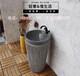 酒店石雕洗手盆造型,纯天然石头加工洗手盆