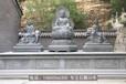 华严三圣石雕像,文殊普贤石雕像,寺庙石雕佛像