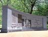 校园弧形文化墙浮雕陶行知人物浮雕景墙浮雕