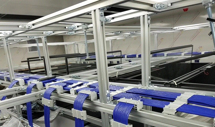 深圳4C铝合金走线架,机房专用走线架,无尘车间专用走线架