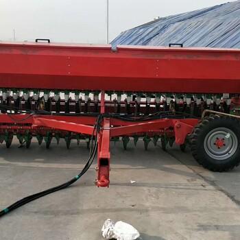 牵引式大田播种施肥机24行小麦播种施肥一体机
