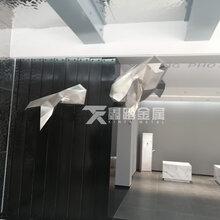 几何块状不锈钢鲸鱼雕塑酒店创意造型不锈钢雕塑摆件