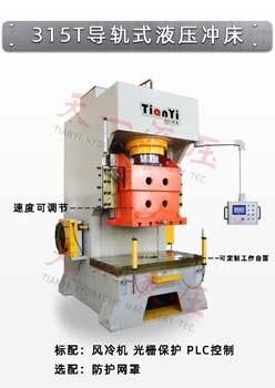 天一直銷300噸液壓沖床加工沖孔設備定制315t導軌式高速液壓沖床