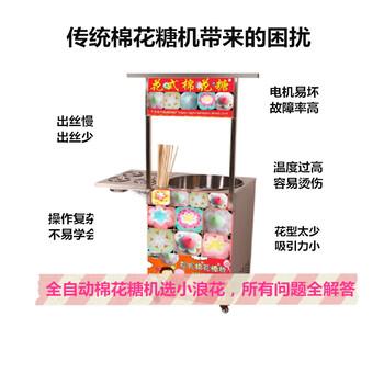 湘西小浪花棉花糖机安全可靠 ⊙ ⊙︿ ,棉花糖自动售卖机