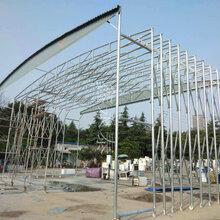 重庆渝北区悬空伸缩雨棚、大排档雨棚厂家定制图片