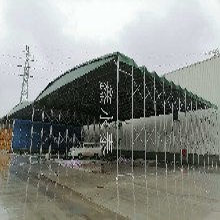 重庆江北区悬空折叠雨棚、仓库户外遮雨棚厂家《鑫永泰》图片