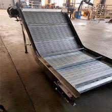 304链板式网链输送机奥泽机械厂家生产不锈钢食品输送机图片