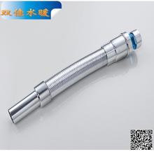 厂家直销SJ016双佳落水管台盆下水洗脸盆排水附件防臭下水银色管图片