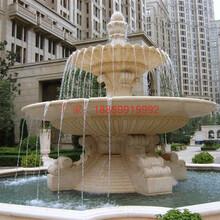 广场石雕水钵花岗岩水钵别墅花园埃及黄水钵流水摆件惠安石雕图片